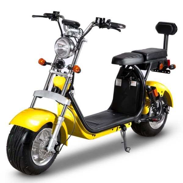 citycoco elektricni skuter viii plus žuti
