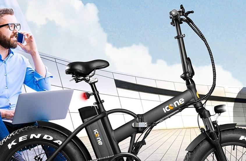 """Icone električni sklopivi bicikl. Izmjenjiva i lako dostupna baterija., brzina 25 km/h, 30-40km, kenda gume 20"""", motor bez četkica 250W, sklopivo anatomsko sjedalo, aluminijska rama, LED zaslon i prednja LED svjetla."""