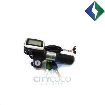 Ručka gasa s indikatorom baterije i ključem za CityCoco električni skuter