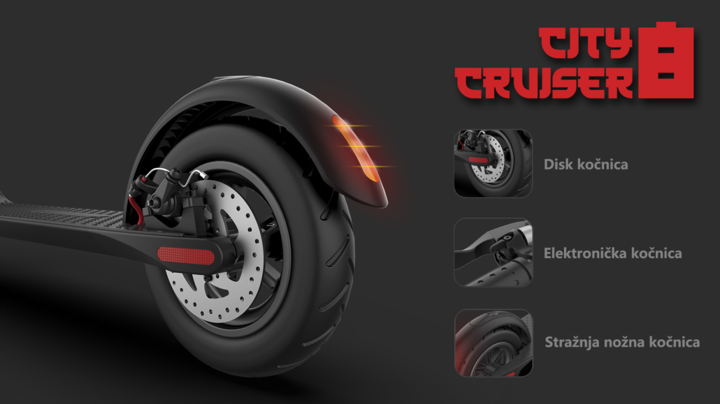 city cruiser 8 brakes escooter