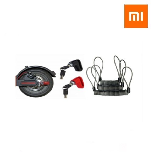 Brava za zaključavanje diska sa sajlom za M365 - Disc lock for M365 and Rope for Xiaomi M365