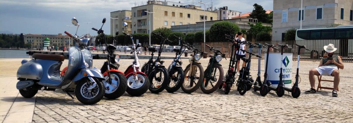 Citycoco rent najam električnih skutera, romobila, bicikala