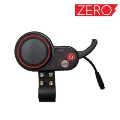 LCD Ekran s polugom gasa i funkcijskim tipkama, LCD display and throttle for Falcon PEV Zero 10x, Zero scooter, Turbowheel lightning, Bexly, Unicool, Speedual, Macury, Eco Speed, Robbo Next, Red Baron, Eco Drift, Zax Board Titan