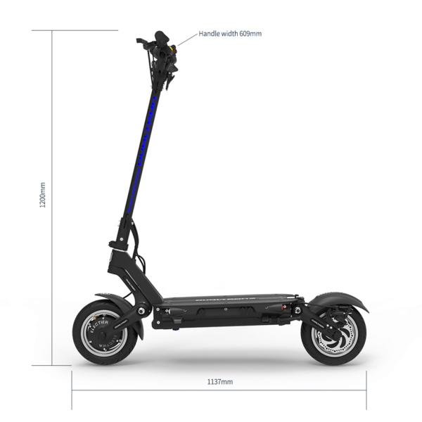 Dualtron 3 Electric Scooter Standing Dimensions